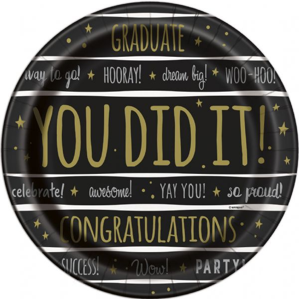You Did It! Graduation Paper Plates (8pk)